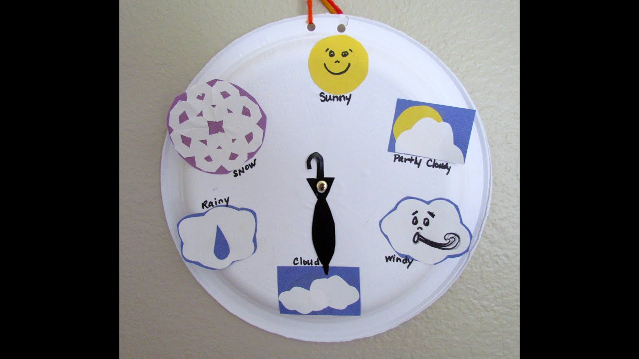 Paper Plate Craft Weather Wheel Chart