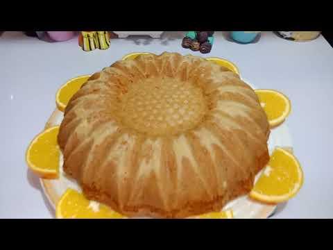 كيكة البرتقال الهشه وصوص البرتقال