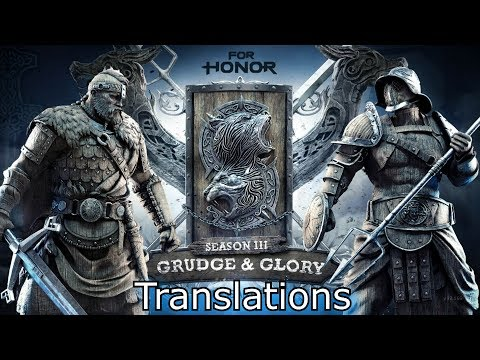 [Season 3] For Honor All Combat Translations (Outdated)