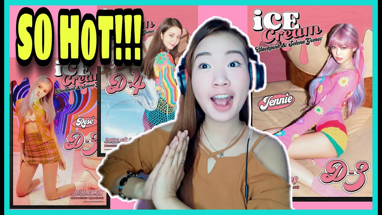 Download Selena Gomez Ice Cream Poster Gif