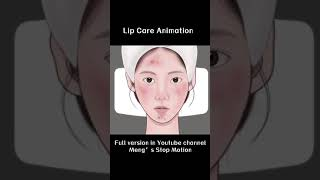 remove dead skin from lips~#shorts #asmr #animation