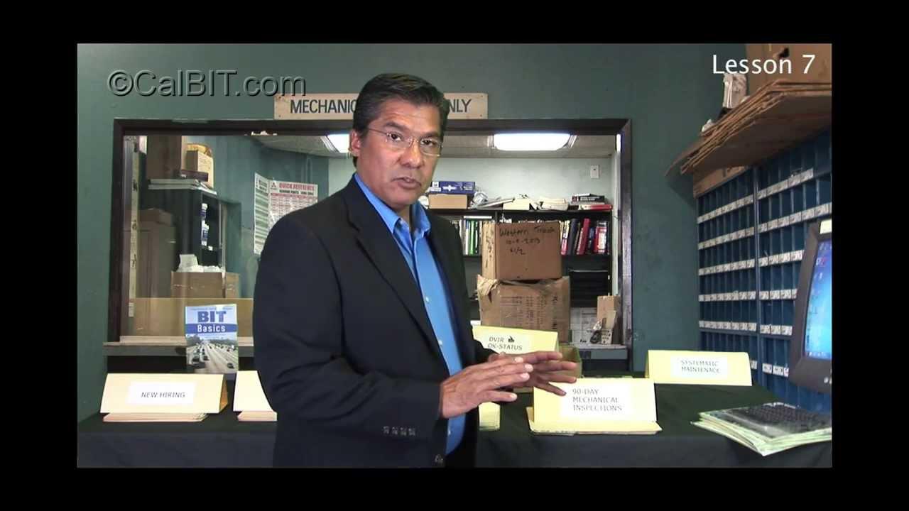Lesson 7 of 8 90Day Mechanical Inspection California BIT Program CHP  Step 7  YouTube
