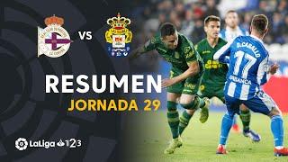 Resumen de RC Deportivo vs UD Las Palmas (0-1)