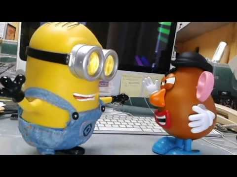 Talking Minion Dave And Mr Potato Head Youtube