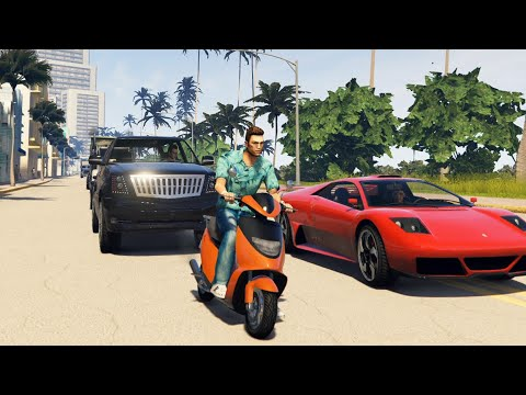 GTA Vice City Remastered 2020 Gameplay + Tutorial   4K Graphics   GTA 5 Mod - How To Install