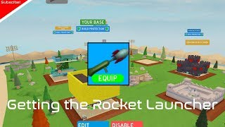 Getting the Rocket Launcher!|Roblox Base raiders