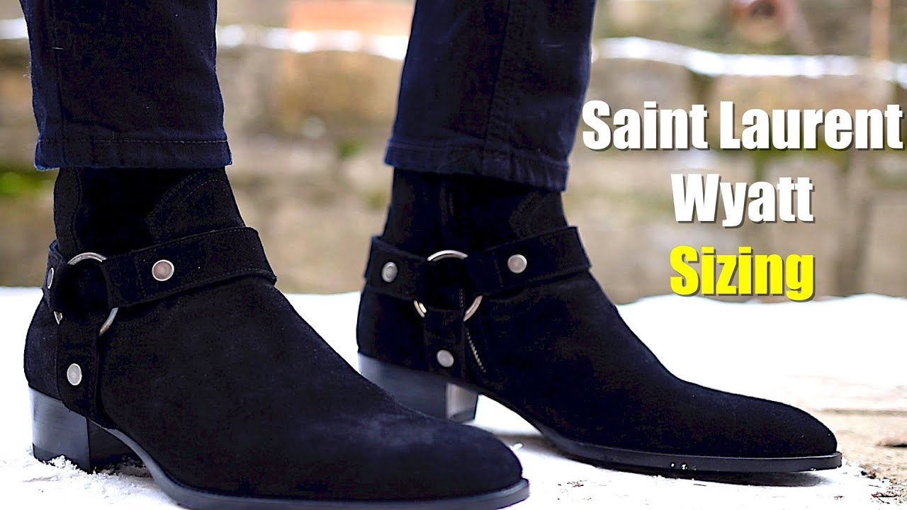 1620522476e Saint Laurent Wyatt 40 Harness Boots Nero Black Suede Sizing & Review