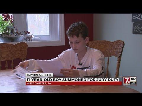 Boy summoned for jury duty