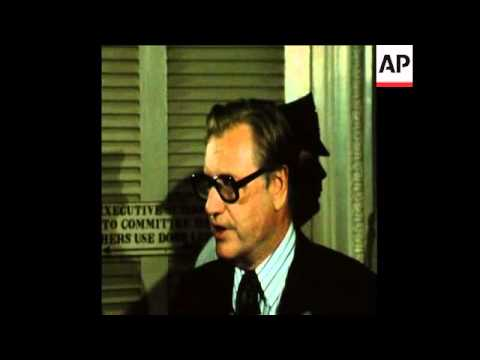 SYND 23 08 74 VICE PRESIDENTIAL CANDIDATE NELSON ROCKEFELLER SPEAKING IN WASHINGTON
