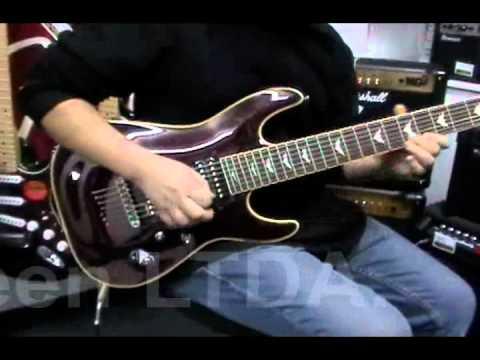 guitarra schecter omen extreme 7 queen instrumentos musicales youtube. Black Bedroom Furniture Sets. Home Design Ideas
