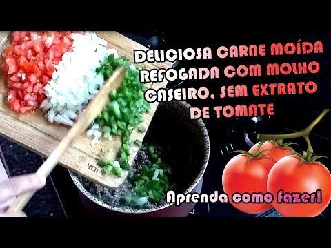 CARNE MOIDA COM MOLHO CASEIRO SEM EXTRATO DE TOMATE | Como Fazer Fácil #Receitas 10