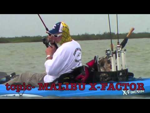 REVIEW OF MALIBU X-FACTOR - How to KAYAK fishing for BIG GUYS!