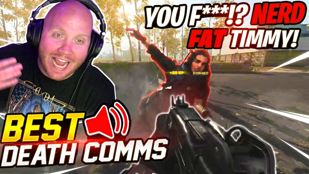 HILARIOUS DEATH COMM RAGE COMPILATION!! WARZONE FUNNY VOICE CHAT MOMENTS!