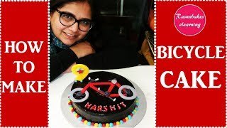 Bicycle:Cycling birthday cake decorating tutorial
