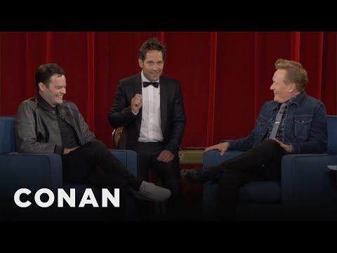 Download Paul Rudd Crashes Bill Hader's CONAN Interview - CONAN on TBS