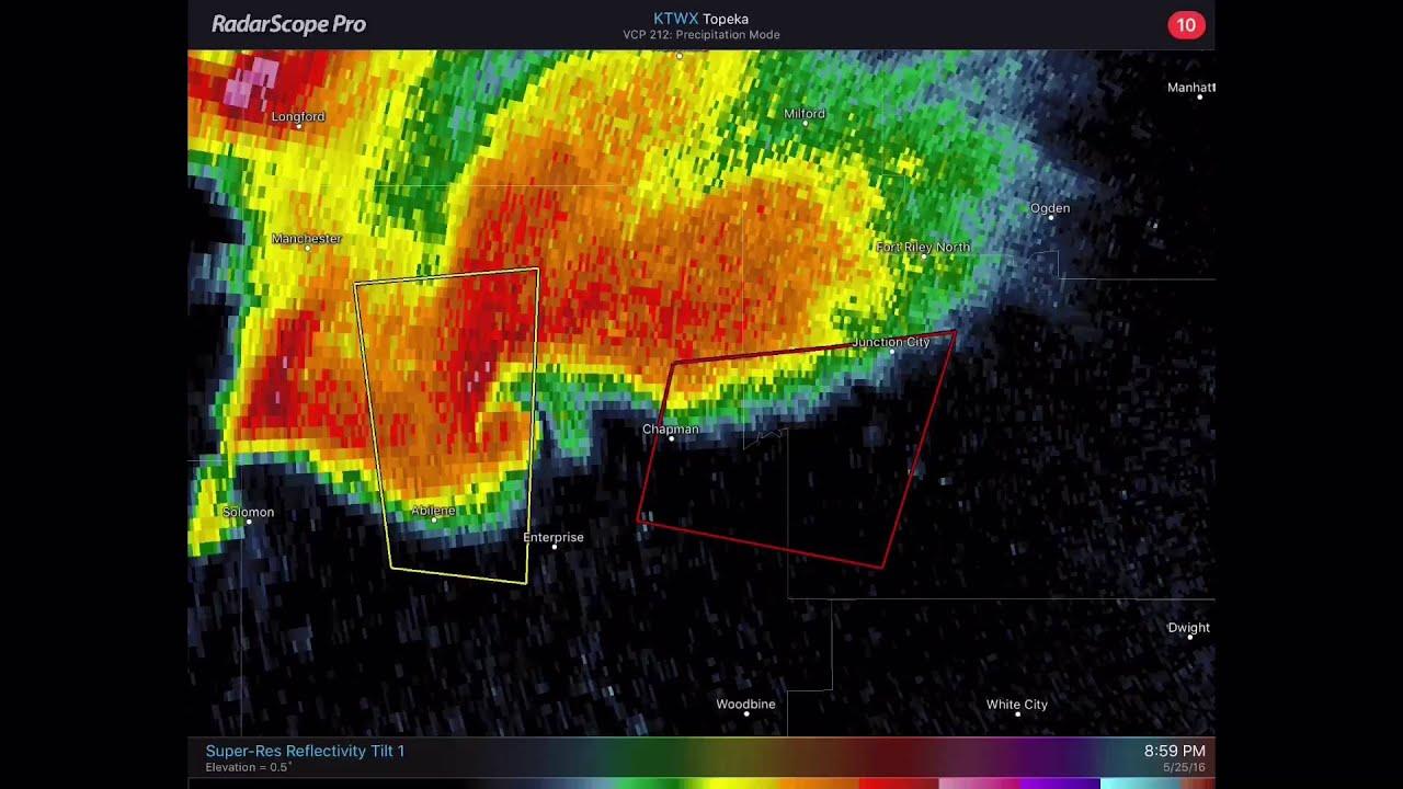 Kansas dickinson county solomon - Dickinson County Kansas Tornado Radar Loop May 25 2016