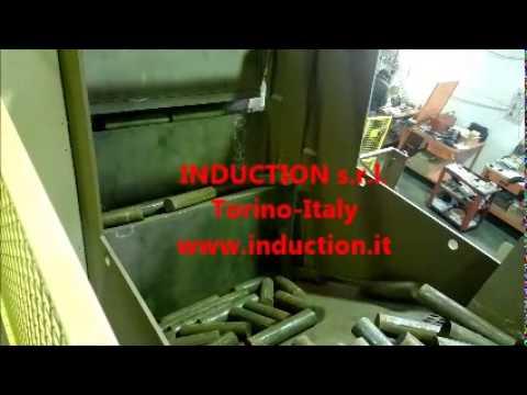 automatic steel billets loader, caricatore automatico billette acciaio