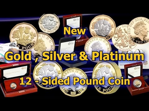 """Royal Mint Commemorates New 12 Sided Pound Coin """"Nations of the Crown"""" Design"""