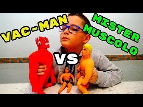 SFIDA EPICA! MISTER MUSCOLO CONTRO VAC-MAN - Leo Toys