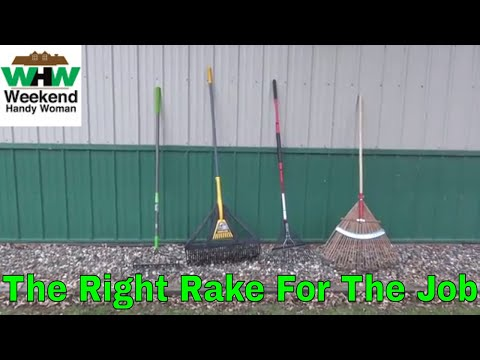 What Is The Best Yard Rake For Your Clean Up Needs? | Weekend Handy Woman