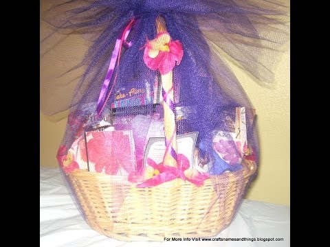 Gift Basket Instructions - How to Make a Beautiful custom-made  Gift Basket  Part Two