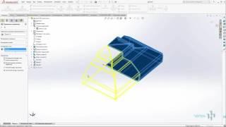 08 Создание детали 1 с помощью элементов листового металла в solidworks