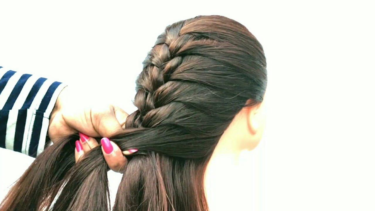 Very Easy Choti Hairstyle For School Going Girl Cute