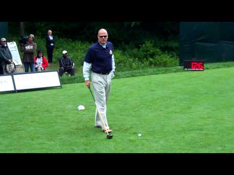 Jim Mcmahon  driving at the Lake of Isles   celebrity-pro tournment June 23, 2009
