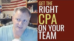 Get the Right CPA on Your Team for Real Estate Investing