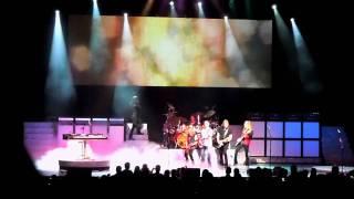 Kansas Styx Foreigner concert setup at Borgata in Atlantic City NJ 8 13 2010