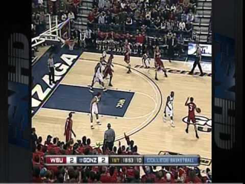 Washington State at Gonzaga, 2009, part 1