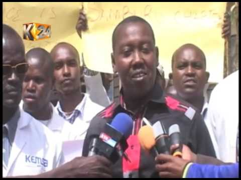 Clinical officers in Samburu stage demonstrations over poor pay