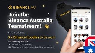 Binance Australia Team On Clubhouse!