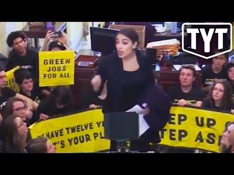 Alexandria Ocasio-Cortez PROTESTS Nancy Pelosi