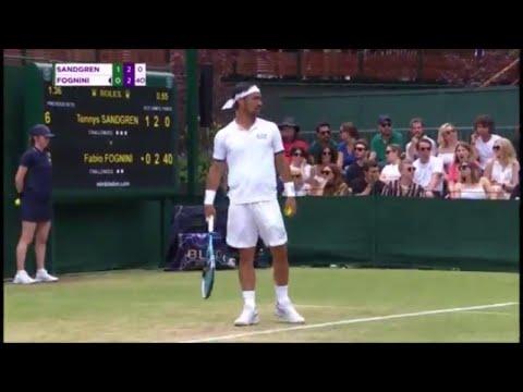"""Wimbledon, Fognini perde il controllo: """"Maledetti inglesi, deve scoppiare una bomba qua"""""""