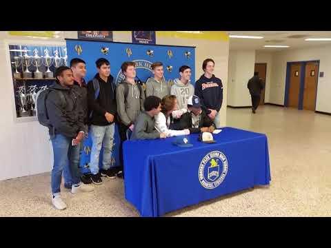 Joshua Brown baseball post signing OMSroadTrip OMSsuccess