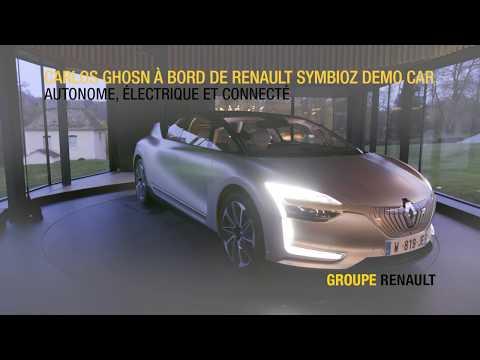 Carlos Ghosn à bord de Renault SYMBIOZ Demo Car   Groupe Renault