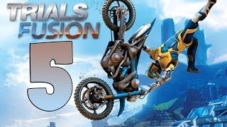 TRIALS FUSION Gameplay Walkthrough Part 5 ALL GOLD[HD 1080p PS4] [ITA Rombo nella Foresta]