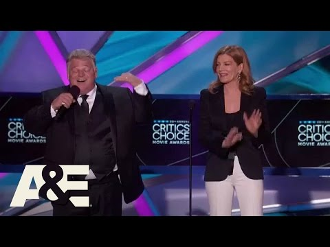 Auctioneer Dan Dotson Chants Costner's Filmography  2015 Critics' Choice Movie Awards  A&E