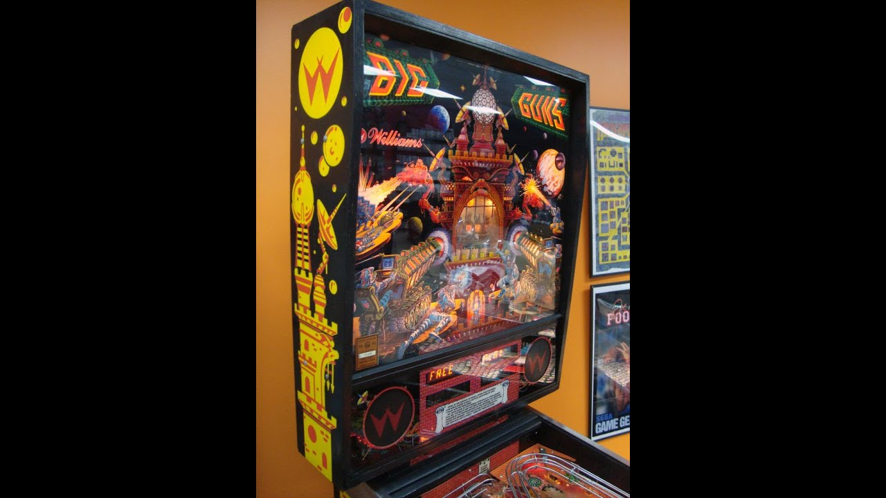 1987 Williams Big Guns Pinball Machine! Gameplay, Artwork, Design Video