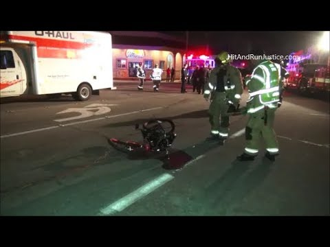 Accident U Haul Truck And Bicyclist Huntington Beach CA
