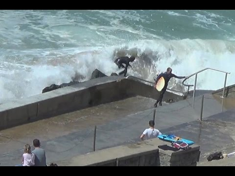 Surf accident in Biarritz - short version