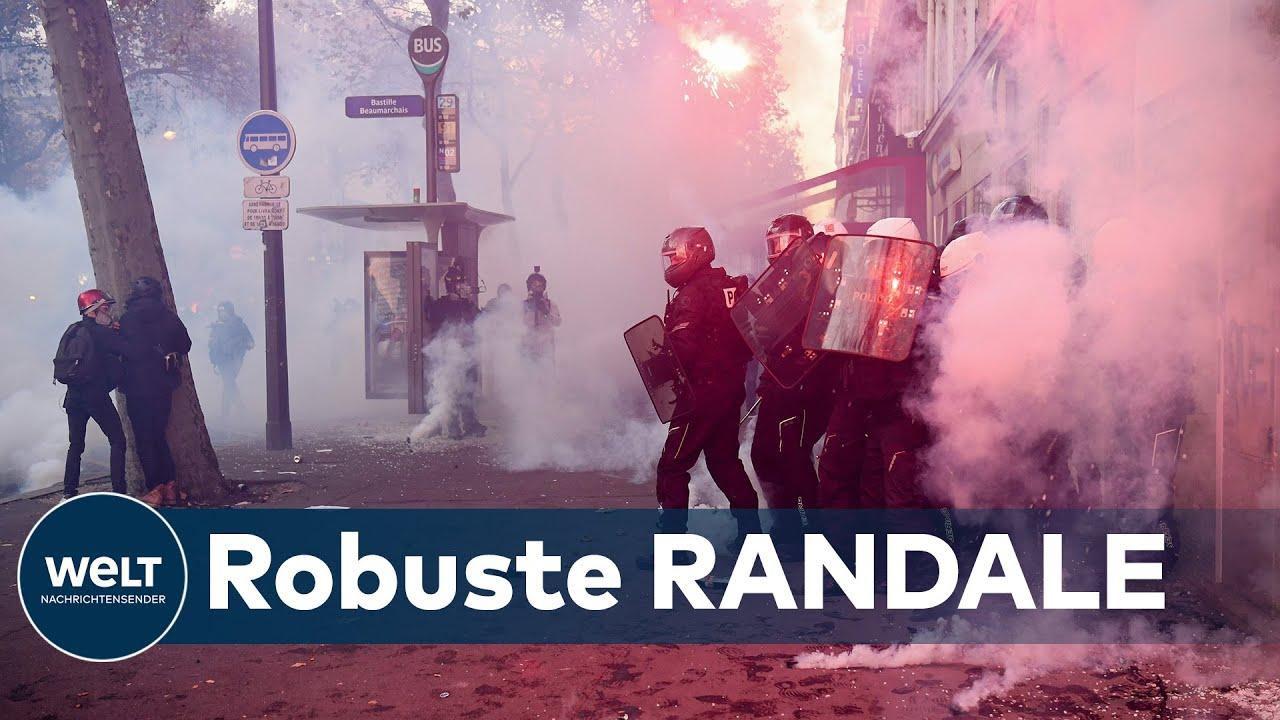 Download COVID-RANDALE IN PARIS: Zusammenstöße bei Protesten gegen Corona-Maßnahmen