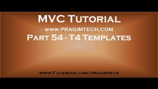 Part 54   T4 templates in asp net mvc