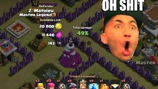 Clash of Clans (COC) . UNLUCKY CLASH EVER MADE . How not to play Clash of Clans