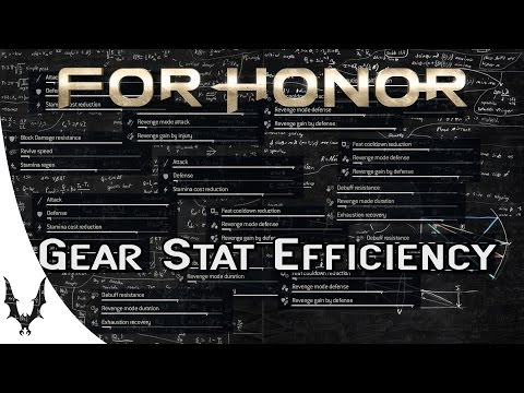 For Honor - Gear Stat Efficiency