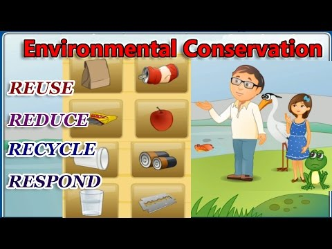 Environmental Conservation, The 4 R's - Reduce, Reuse, Recyc