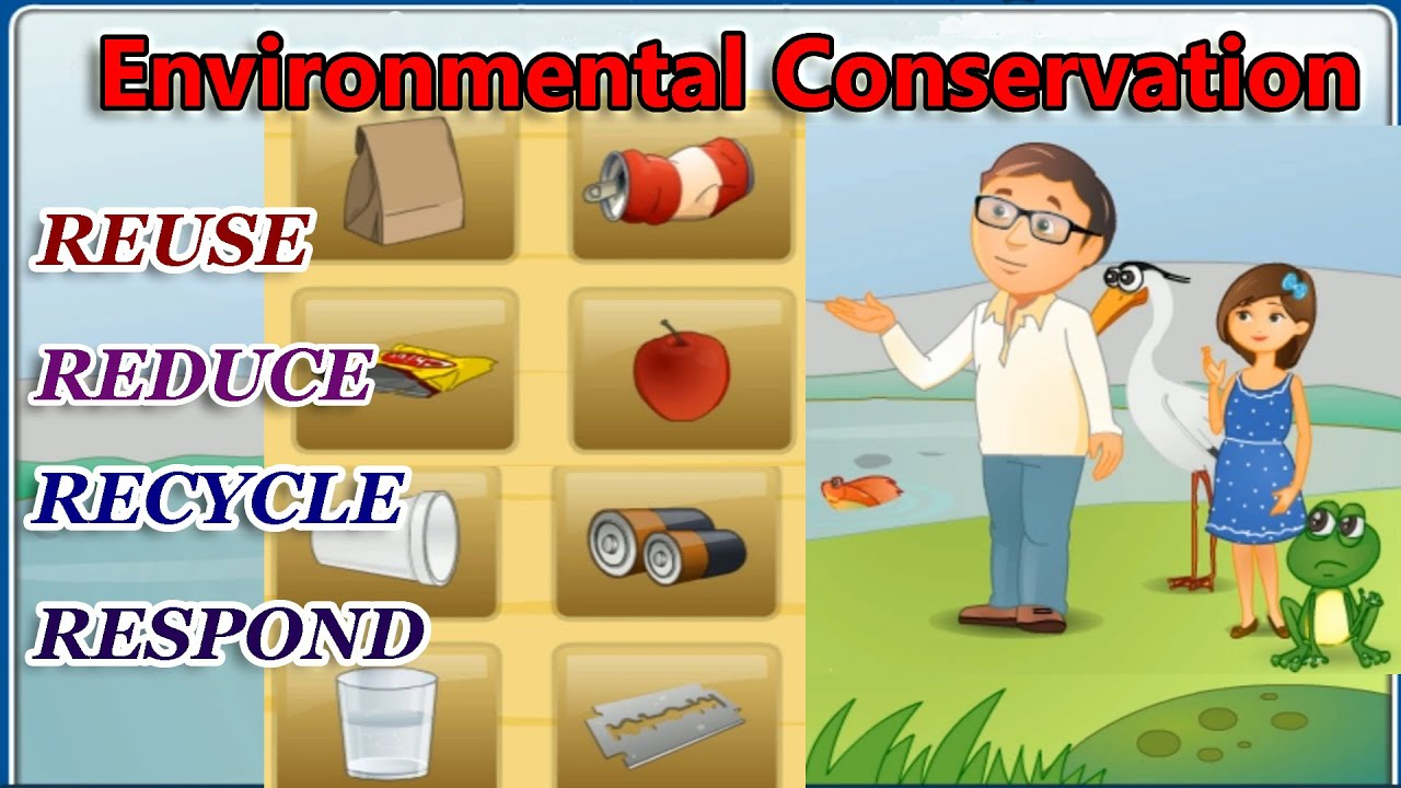 Environmental conservation the 4 r 39 s reduce reuse for Best out of waste environment