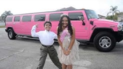 Birthday Party Pink Limousine! Part 1