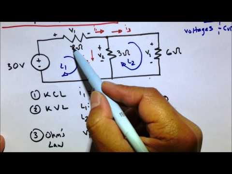 KVL KCL Ohm's Law Circuit Practice Problem thumbnail
